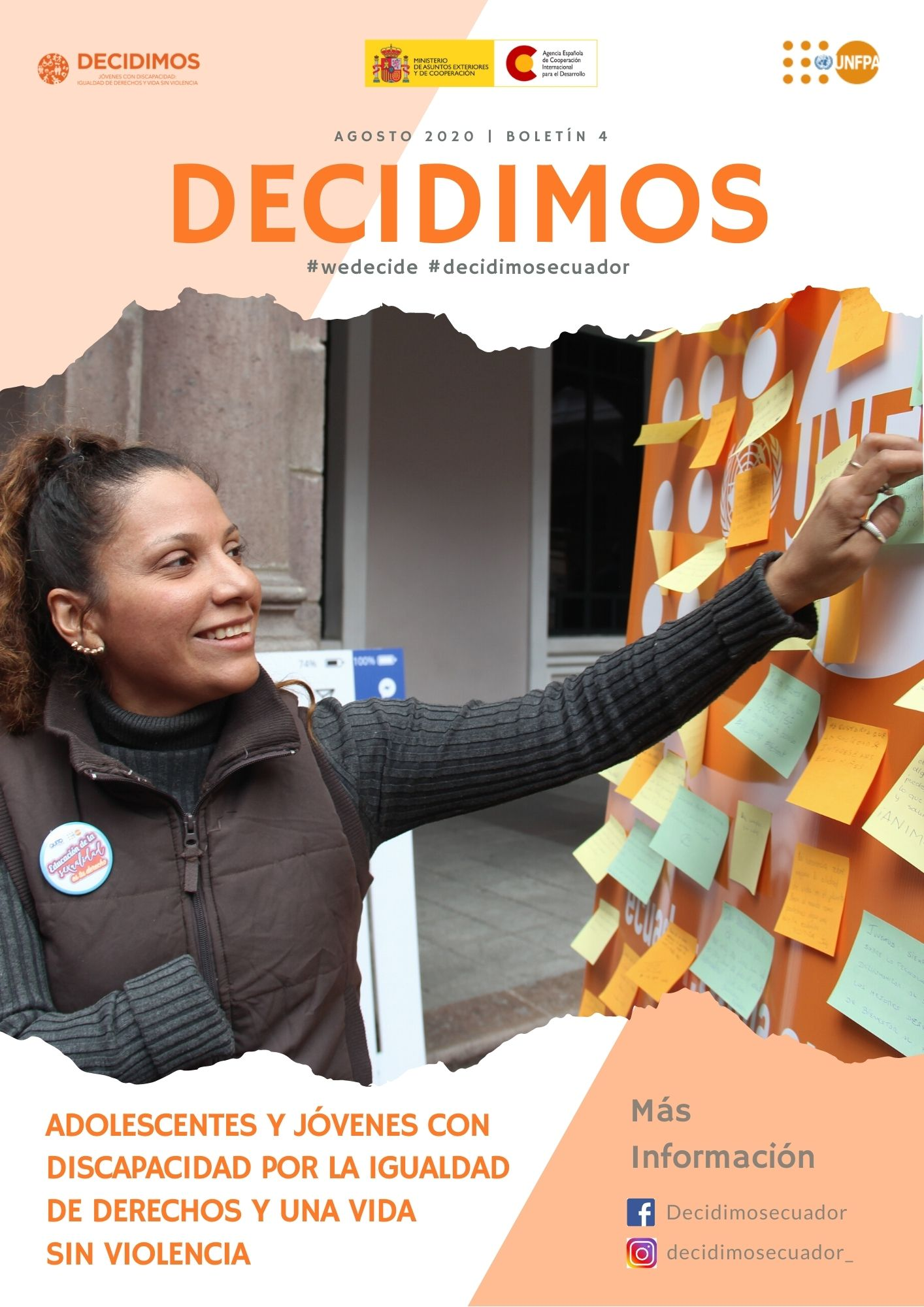 Boletín DECIDIMOS, adolescentes y jóvenes con discapacidad por la igualdad de derechos y una vida sin violencia