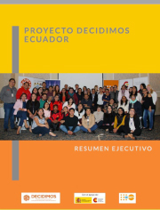 Resumen ejecutivo Decidimos Ecuador